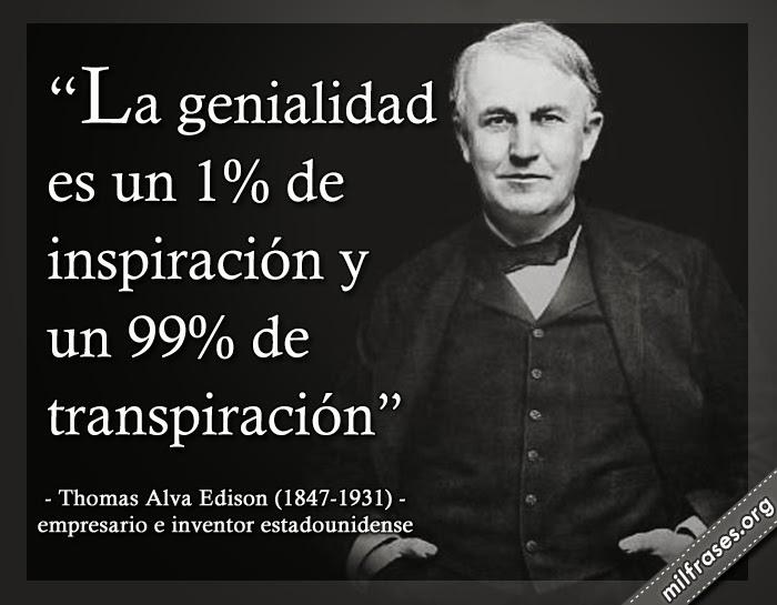 frases de Thomas Alva Edison, empresario estadounidense e inventor de la bombilla eléctrica