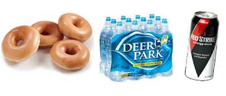 Free Doughnut, Spring Water, Energy Drink and More