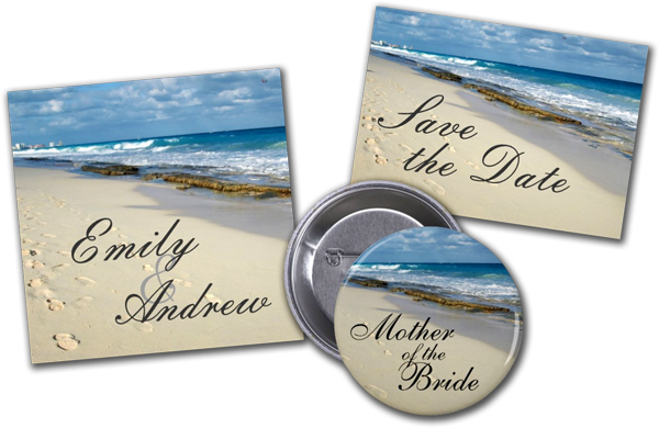 Footprints On The Beach Wedding Invitation