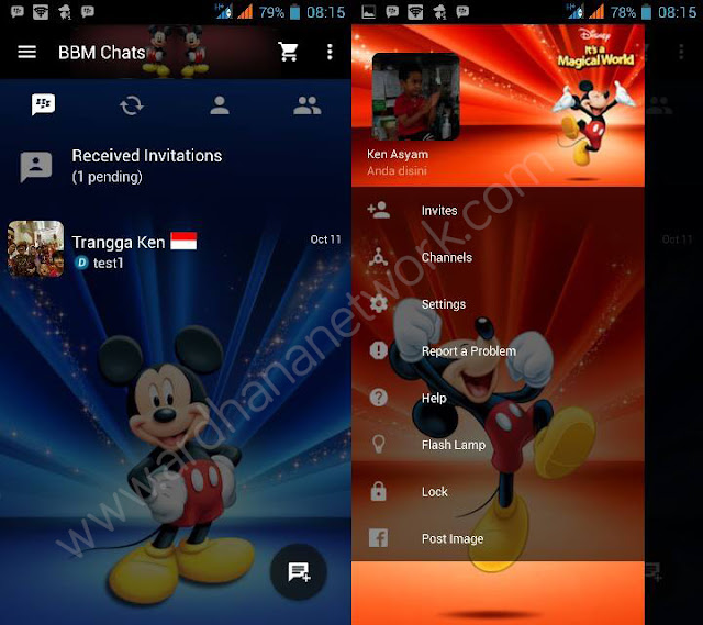 Preview BBM Mickey Mouse
