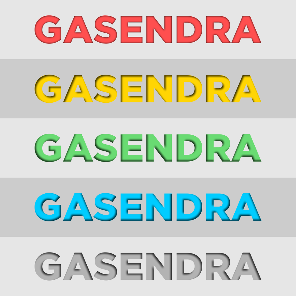 CorelDRAW Tutorial - Inner Shadow Text Effect - Galih Gasendra