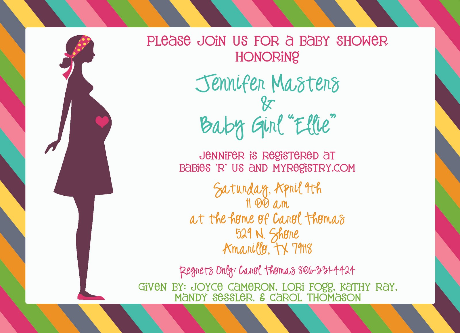 You're Invited: Bright Colorful Baby Girl Shower