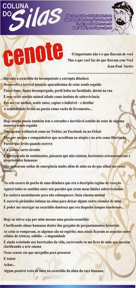 Poema Cenote, Silas Correa Leite