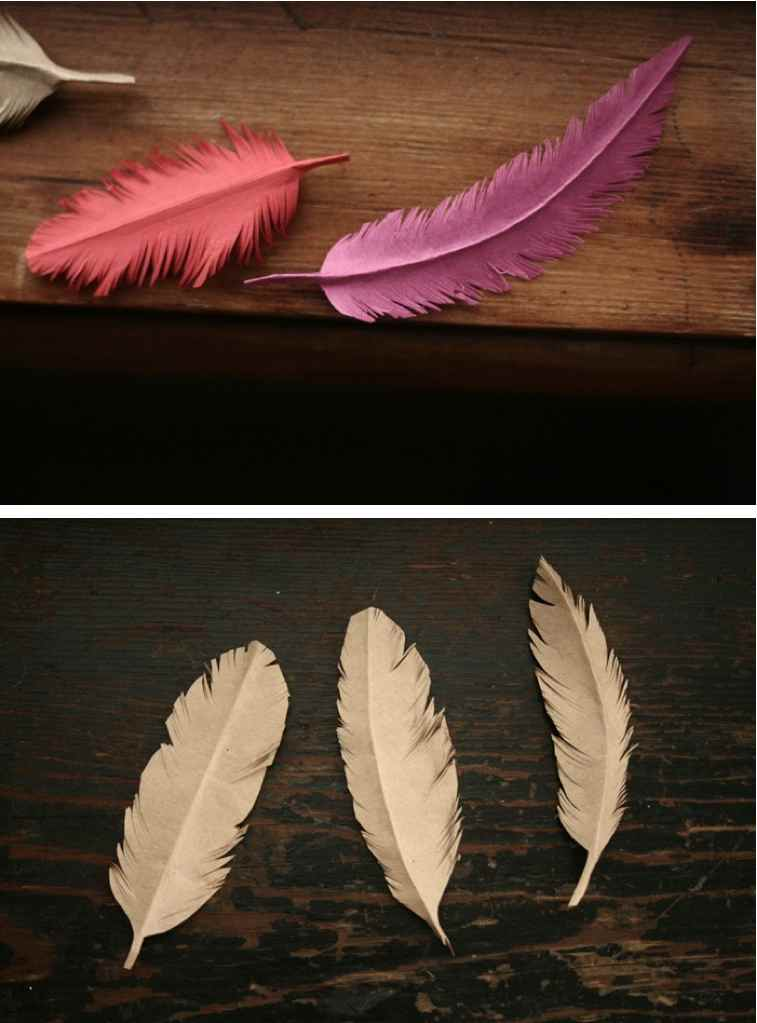 DIY Paper Feather - Crafthubs