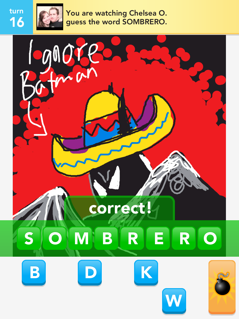 how to delete a game with someone on draw something
