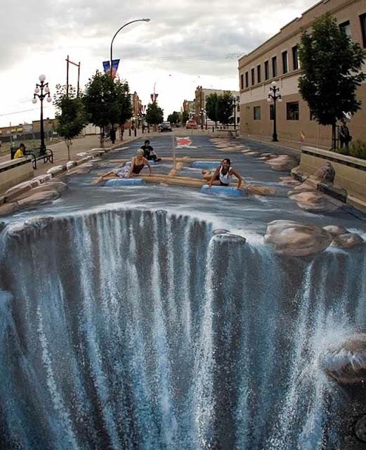 La cascada. El mejor arte callejero, increíbles fotos de street art1