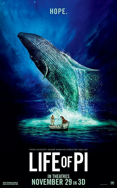 life of pi, 3d movie, lee ang