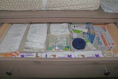 Diaper Drawer Organization - The Not So Desperate Chef Wife
