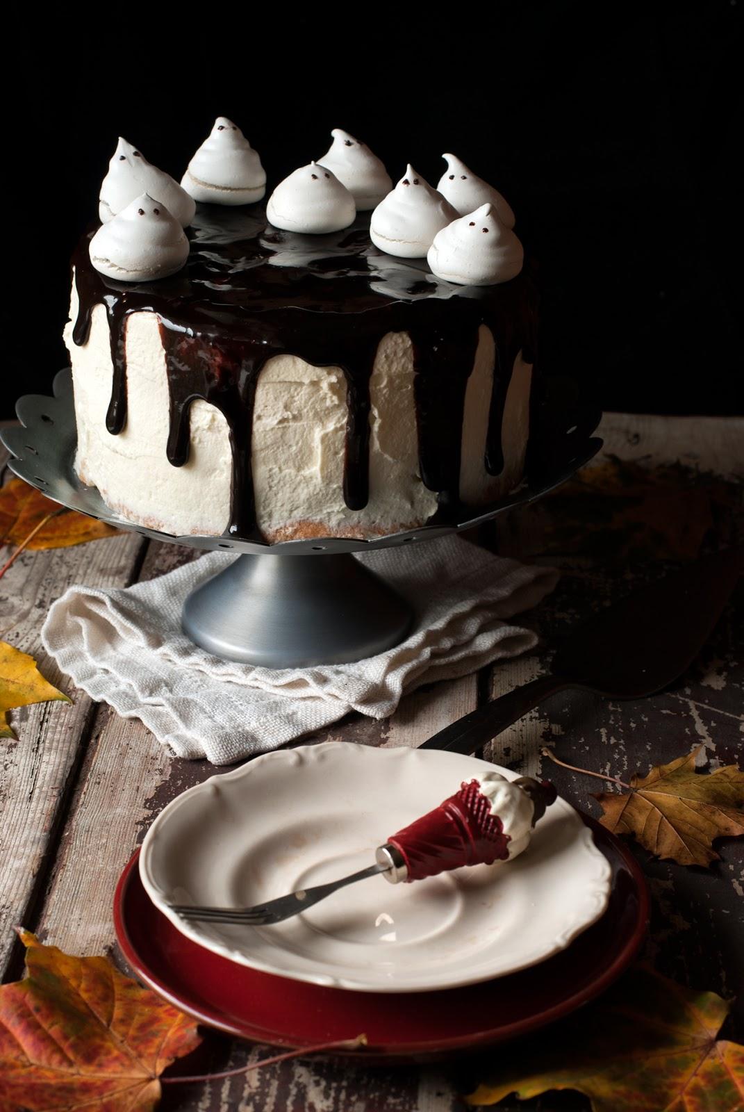 Tort czekoladowy bez glutenu angel food cake