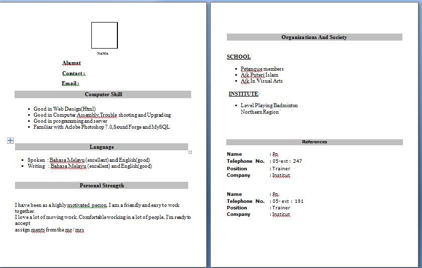 snsdlittlenote contoh resume untuk praktikal