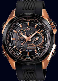 Casio Edifice Rose Gold  Resin Band EQS500CG-1A