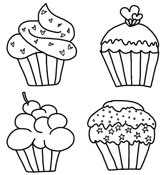 Cupcake Digital Stamp