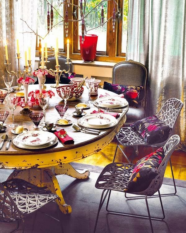 stylish vintage dining room decor, vintage furniture and accessories,vintage homes