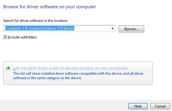 Electro cara install program arduino di windows