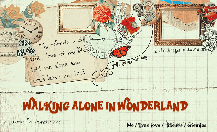 walking alone in wonderland