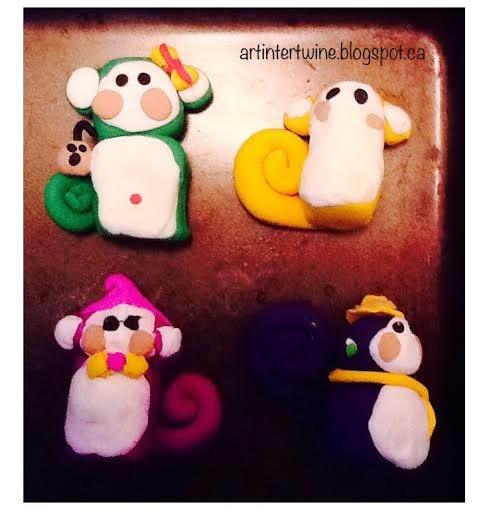 Art Intertwine - Sculpey Monkeys