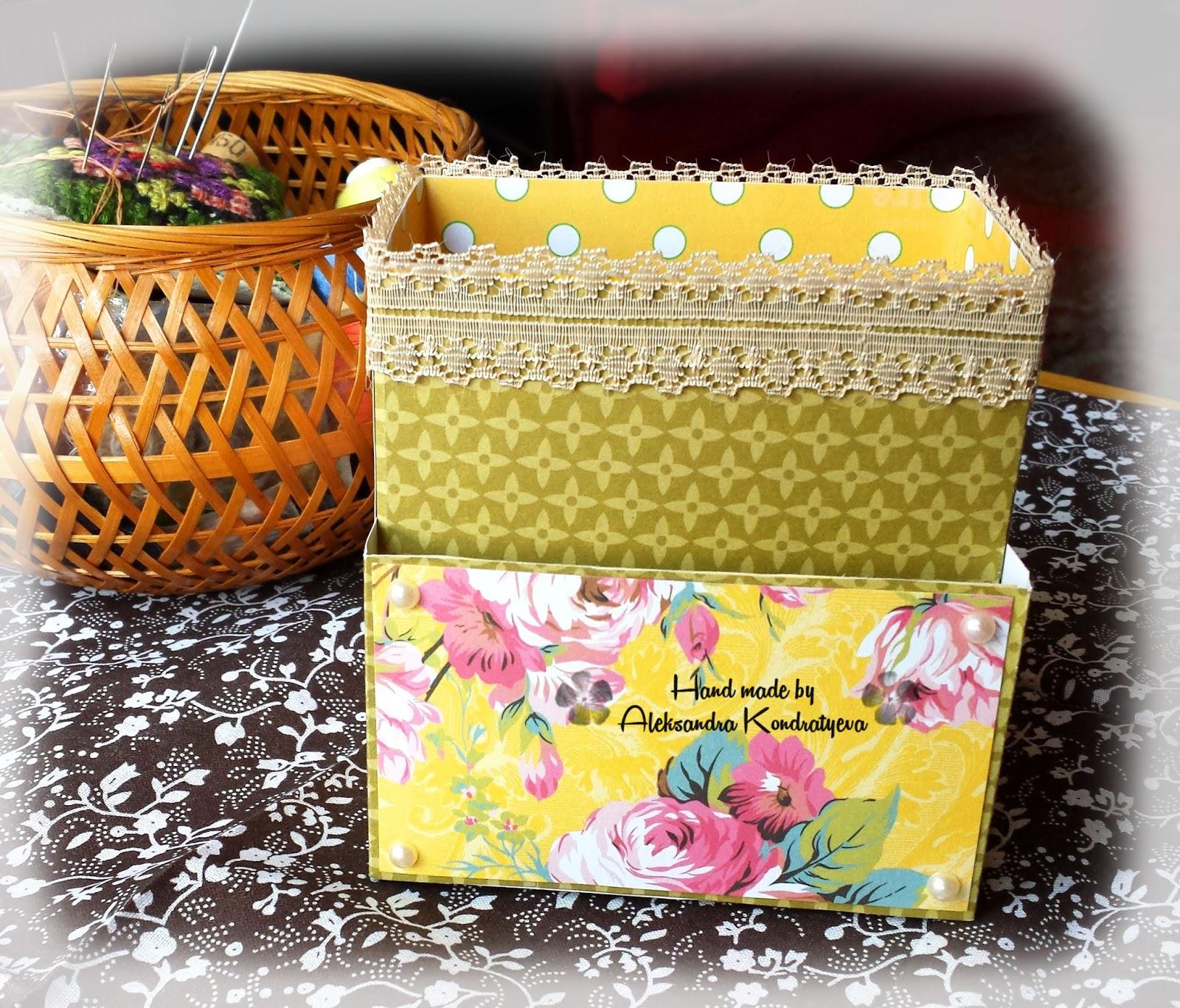 Органайзер для канцелярии из чайных коробок