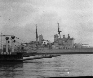 HMS Vanguard and Car Ferry