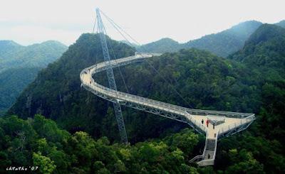 Langkawi sky-bridge in Malaysia