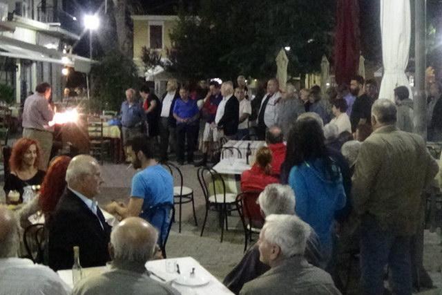 Προεκλογική ομιλία του ΚΚΕ στις Φέρες