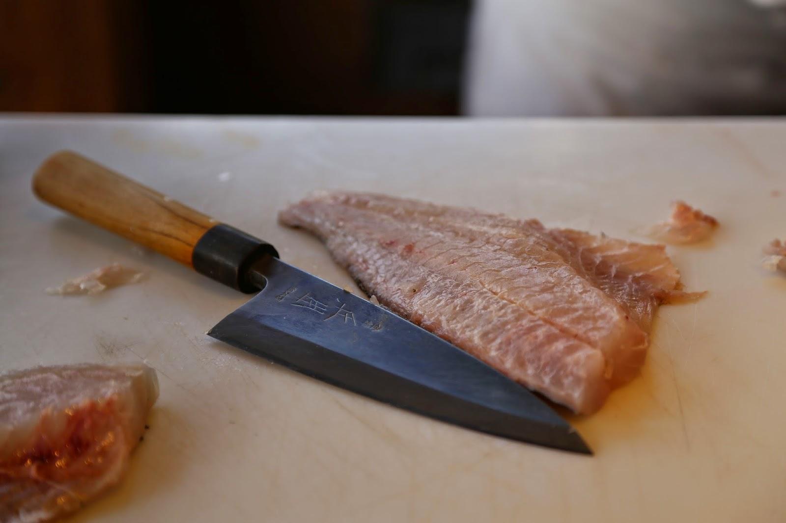 deba knife,used by japanese chef