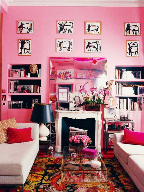 Shades of Pink and Red (or rooms that remind me Valentine\'s Day is ...