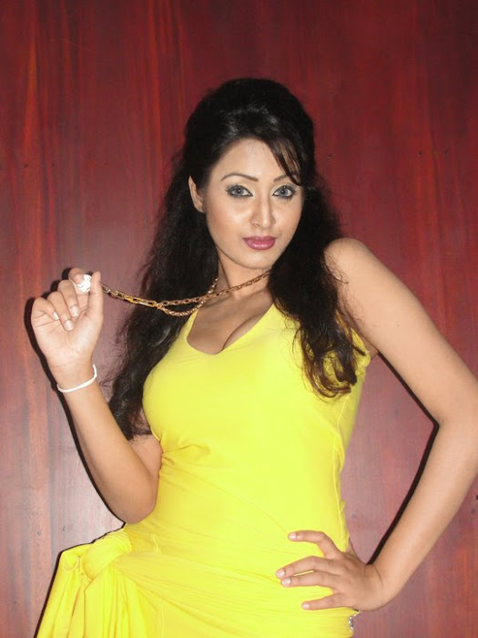 model kaushalya madhavi in yellow dress hot photoshoot