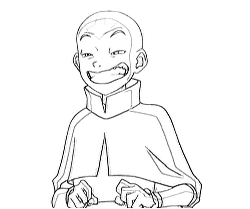 printable-avatar-aang-funny-coloring-pages
