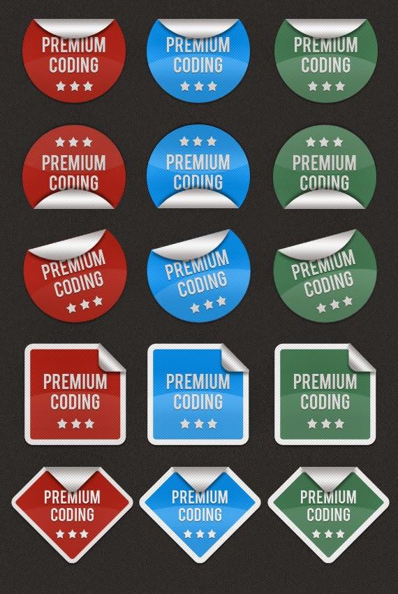 6 Fancy Stickers