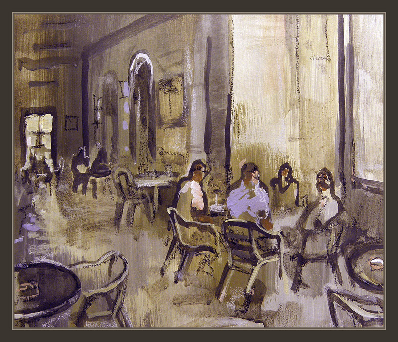 CADAQUES-CAFETERIAS-PINTURAS-ERNEST DESCALS-