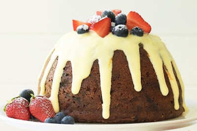 Apple, prune & peach Christmas pudding Recipe