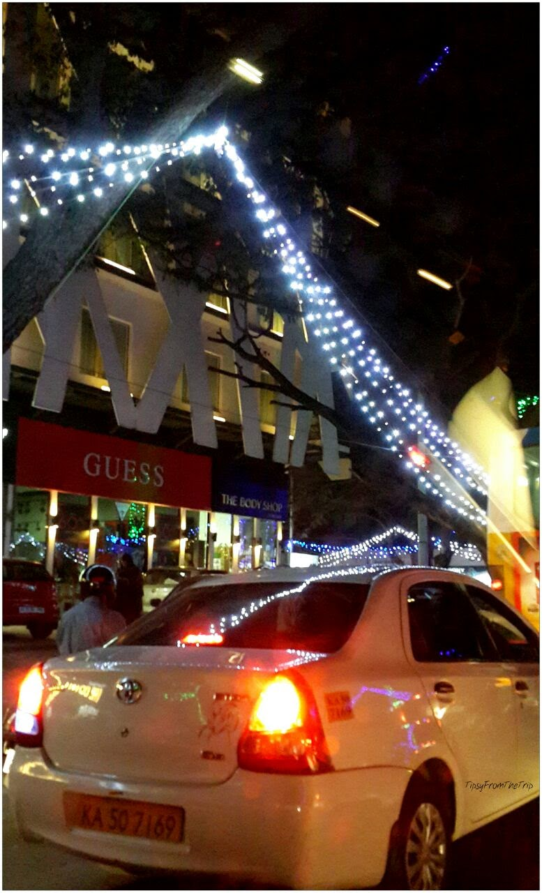 New Year lights on 100ft road, Indiranagar, Bangalore