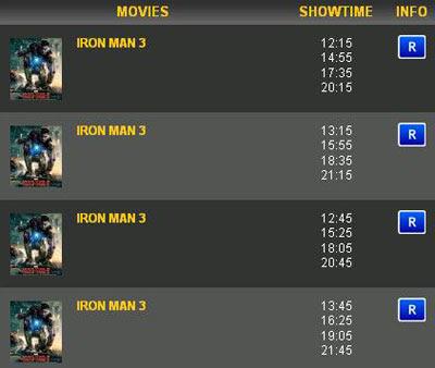 Iron Man 3 di Bioskop Indonesia