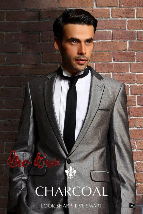 2011 Collection | Stylish Pant Coat Official Men Dress by Charcoal