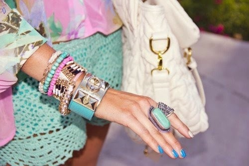 Pastel Accessories, Spring 2015, Jewelry, Tanvii.com