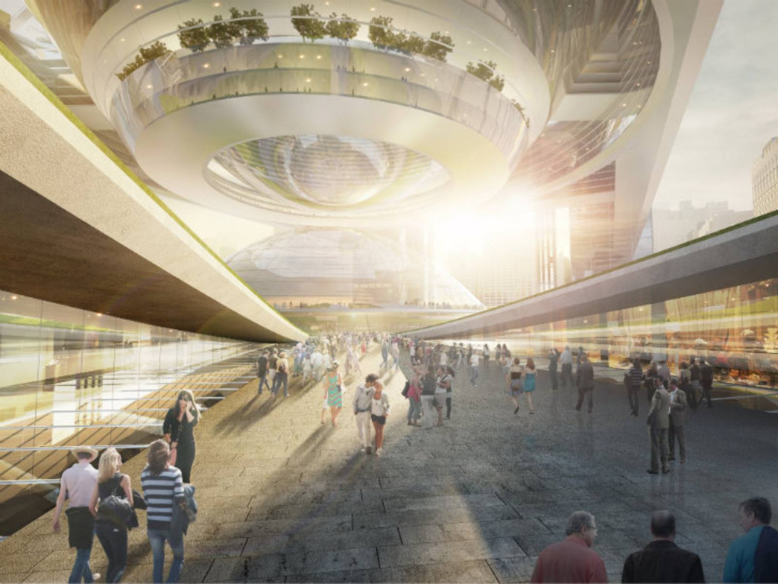 Plans for penn station by som a as architecture - Parking garages near madison square garden ...