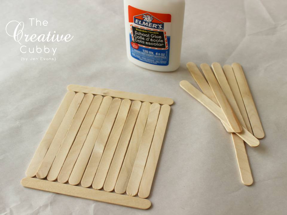 The Creative Cubby Popsicle Stick Bird Feeder
