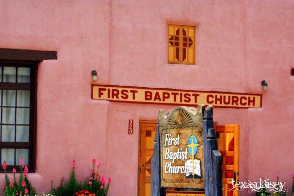 Pink FBC Church Taos New Mexico