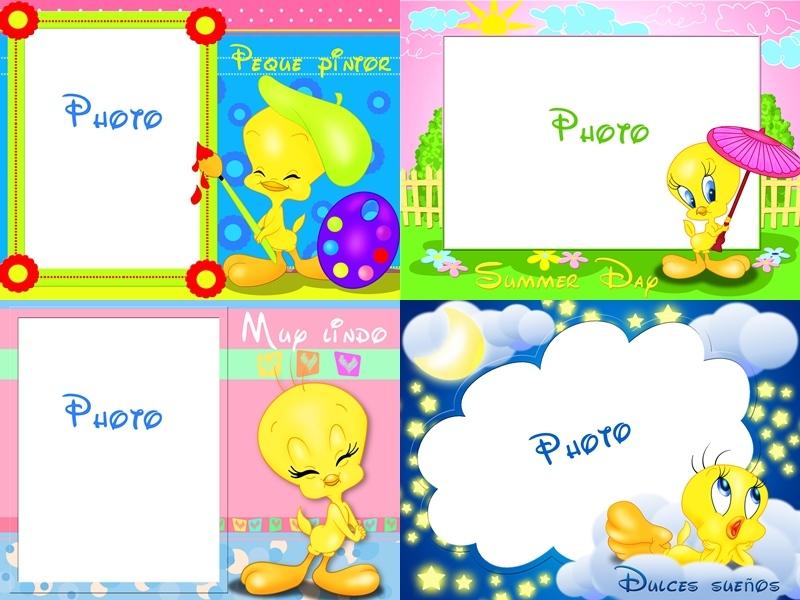 Recursos Photoshop Llanpac: 4 Marcos infantiles de Piolin para ...