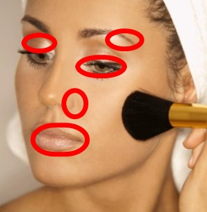 Zonas de Correcciones en el Maquillaje