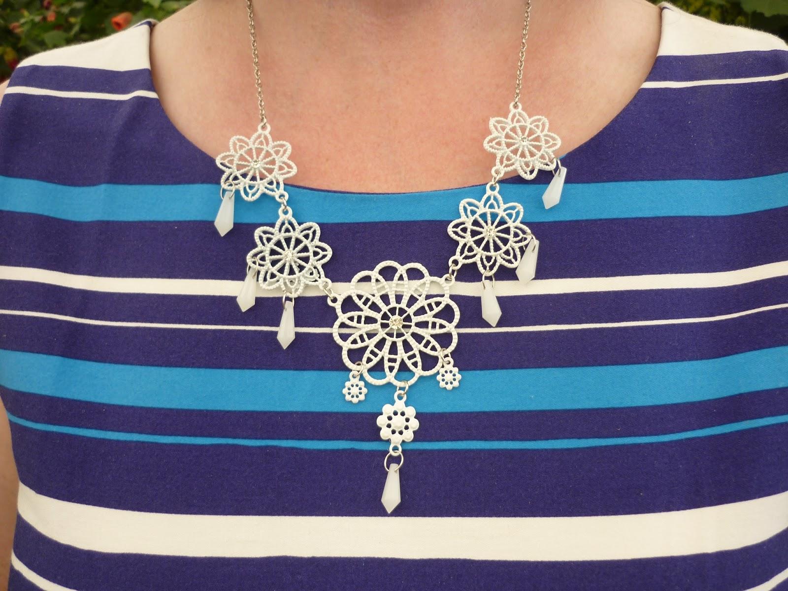 White Necklace; PetiteSilverVixen