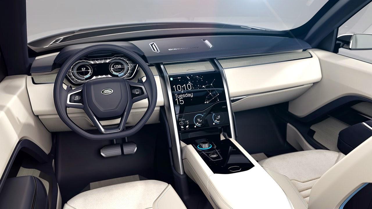 Land Rover Discovery Vision Concept dash