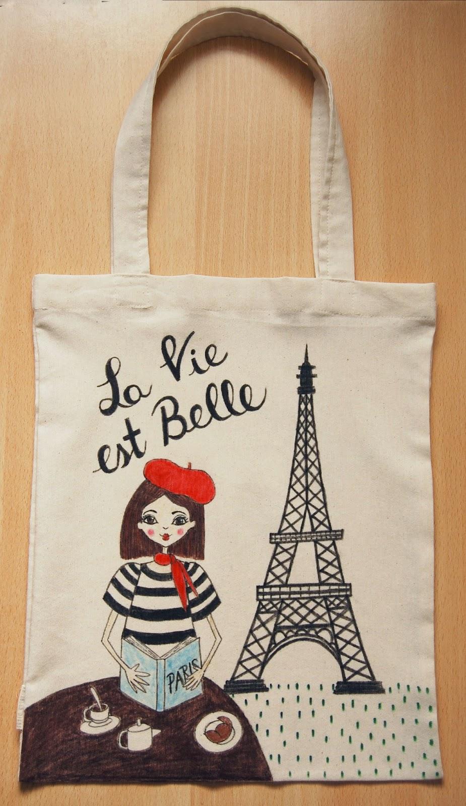 Susie creativa bolsas de tela ilustradas illustrated tote - Bolsas para pintar ...