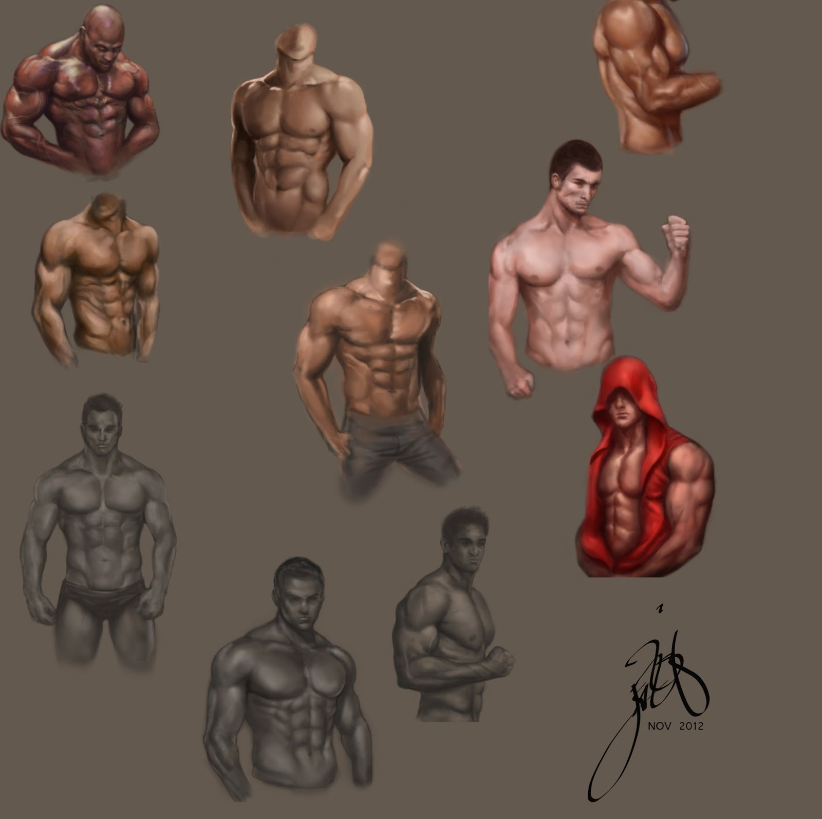 Doodles and Noodles #4 : Male Anatomy, and Lighting Studies | Art of ...