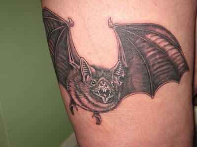 Realistic Bat Tattoo