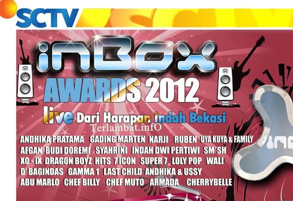 Daftar Nama Pemenang Inbox Award 2012 SCTV