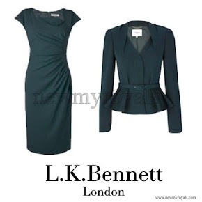 Kate Middleton wore L.K. Bennett Jude Jacket and Davina Dress