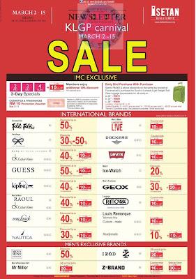 Isetan KLGP Carnival Sale till 15 MAR 2012
