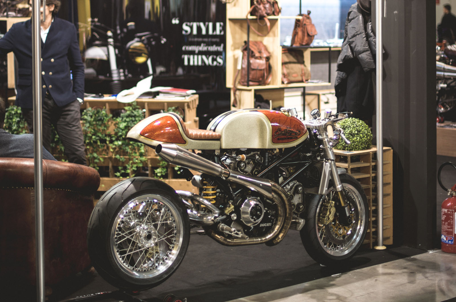 Ducati Monster S4R Kelevra Cafe Racer By South Garage At The EICMA 2015 Picture From Bitly 21kLfaK