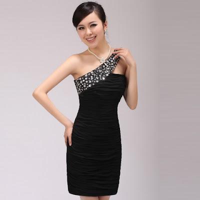 Model Gaun Pesta Pendek Hitam Elegan